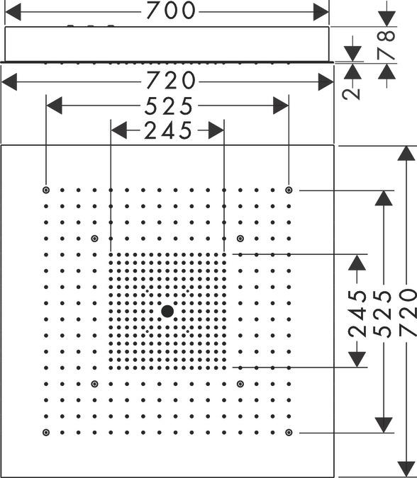 AXOR Hoofddouches: AXOR ShowerCollection, 3 straalsoorten, 10625800