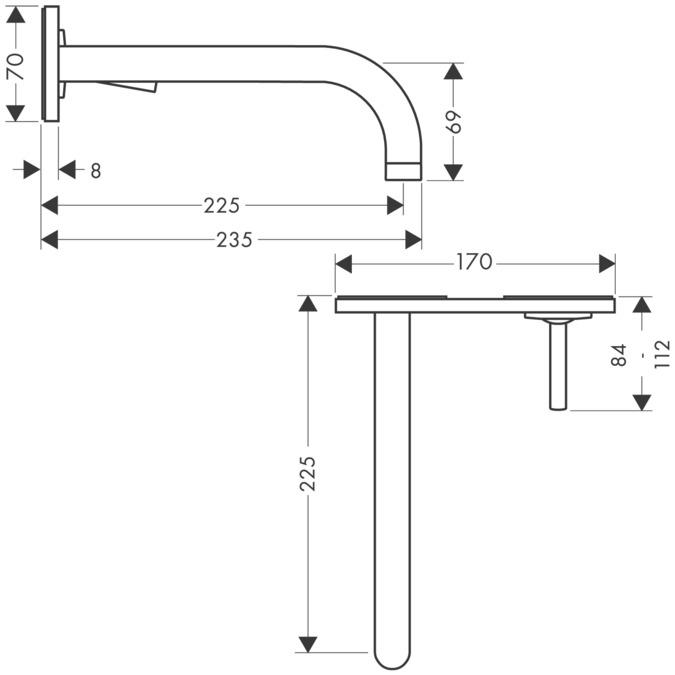 axor uno waschtischmischer chrom 38115000. Black Bedroom Furniture Sets. Home Design Ideas