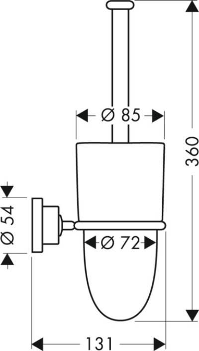 axor axor citterio wc b rstenhalter wandversion 41735000. Black Bedroom Furniture Sets. Home Design Ideas
