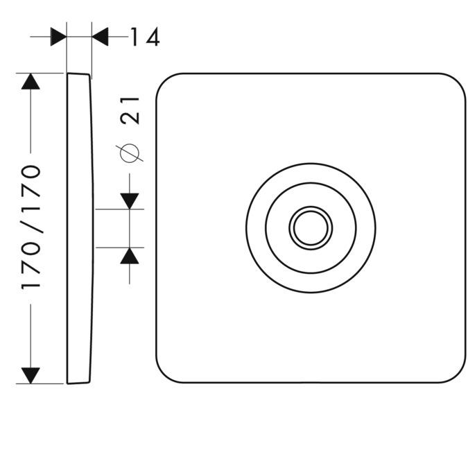 axor accessoires axor citterio m plaque de recouvrement murale 34612310. Black Bedroom Furniture Sets. Home Design Ideas