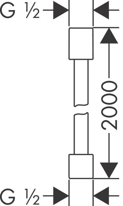 AXOR Shower hoses: AXOR Starck, Metal effect shower hose 2