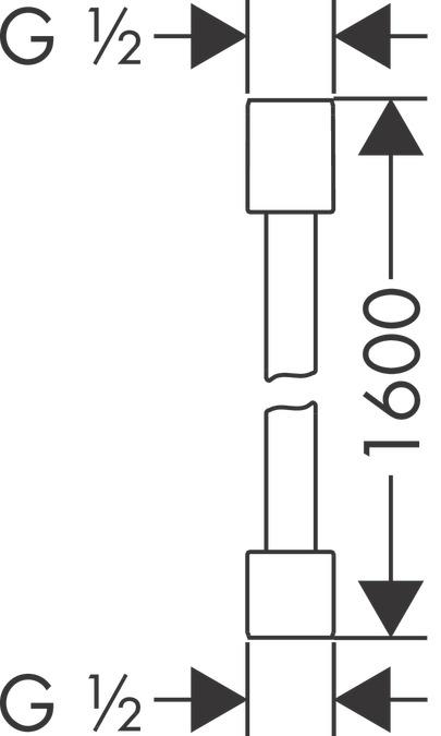 AXOR Shower hoses: AXOR Starck, Metal effect shower hose 1