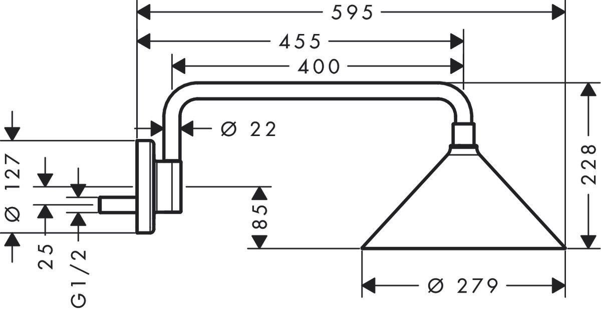 Axor soffioni doccia axor showers front 2 tipi di getto 26021000 - Tipi di doccia ...