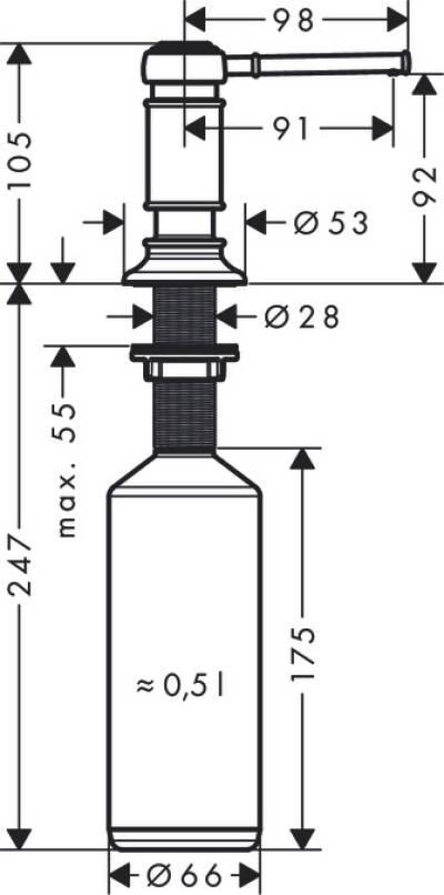 AXOR AXOR Montreux, AXOR Montreux Soap Dispenser, 42018000