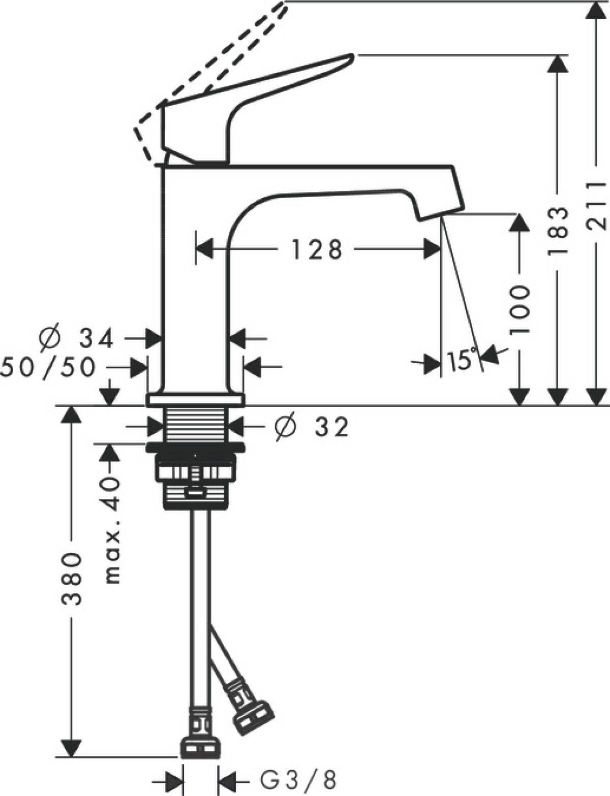 Axor Citterio M Washbasin Mixers Chrome 34017000 380v Single Line Wiring Diagram Previous