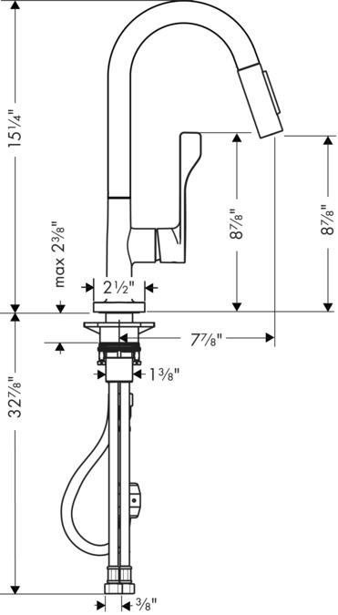 AXOR Kitchen faucets: AXOR Citterio, AXOR Citterio 2-Spray Prep ...