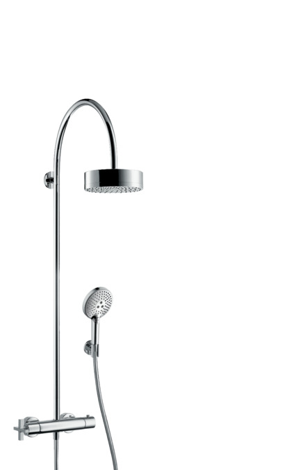 Showerpipe With Thermostatic Mixer And Overhead Shower 180 1jet