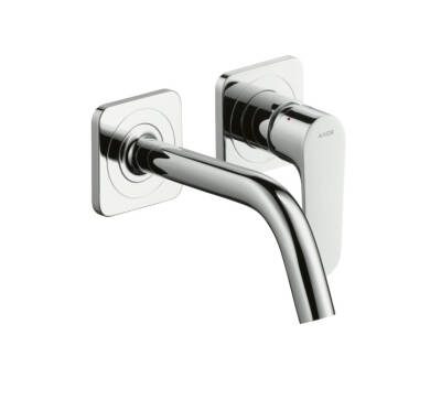 Single lever basin mixer for concealed installation with spout 167 mm and escutcheons wall-mounted