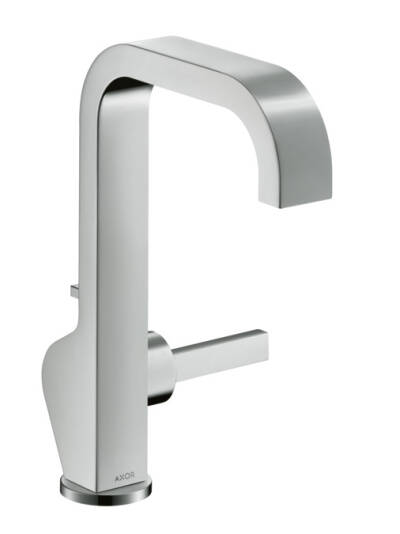 Single lever basin mixer 190 with pin handle and pop-up waste set