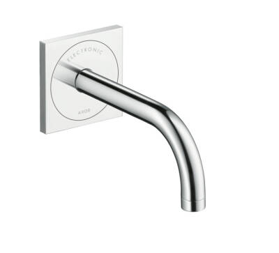 Electronic basin mixer for concealed installation with spout 165 mm wall-mounted