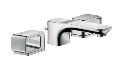 3-hole basin mixer 50 with escutcheons and pop-up waste set