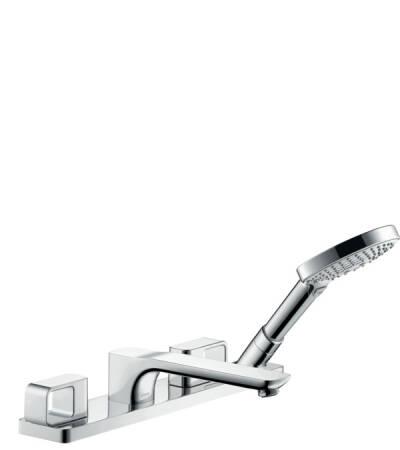 Grifería 4 agujeros, montaje sobre borde bañera