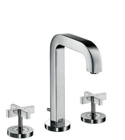 AXOR Citterio Widespread Faucet with Cross Handles, 1.2 GPM