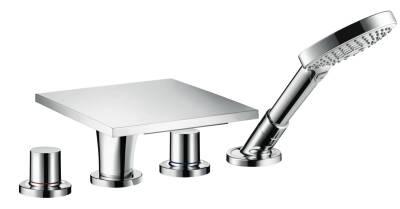 4-hole tile mounted bath mixer