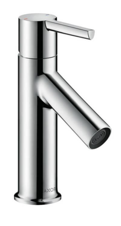 Einhebel-Waschtischmischer 80 mit Hebelgriff für Handwaschbecken mit Zugstangen-Ablaufgarnitur