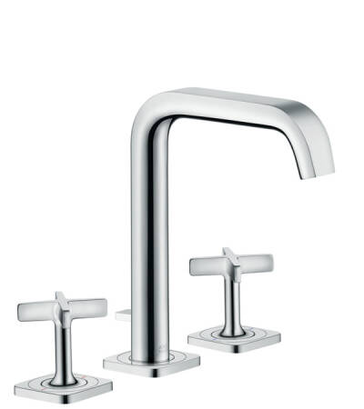3-hole basin mixer 170 with escutcheons and pop-up waste set