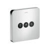 ShowerSelect Ventil Softcube für 3 Verbraucher Unterputz