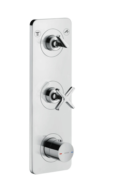 Axor citterio e shower mixers 2 outlets chrome 36703000 for Llaves para shower