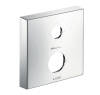 Extension escutcheon square two hole 0-1-2