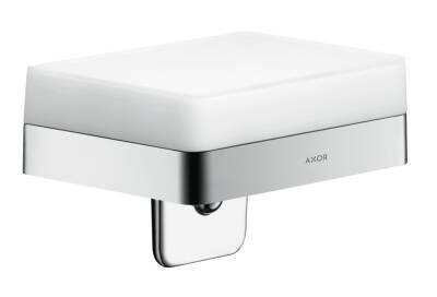 Liquid soap dispenser with shelf