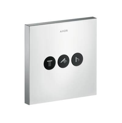 ShowerSelect Ventil Square für 3 Verbraucher Unterputz