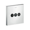ShowerSelect valve Square for 3 outlets for concealed installation