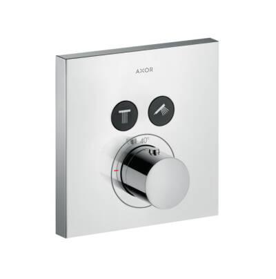 ShowerSelect Thermostat Square für 2 Verbraucher Unterputz