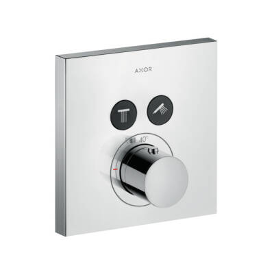 ShowerSelect thermostatic mixer Square for 2 outlets for concealed installation