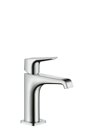 Single lever basin mixer 130 with lever handle and waste set