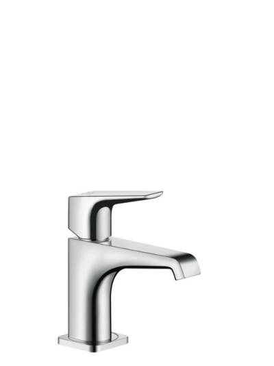 Single lever basin mixer 90 with lever handle without pull-rod for hand wash basins