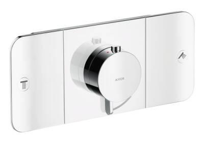 One módulo de termostato con 2 llaves de paso