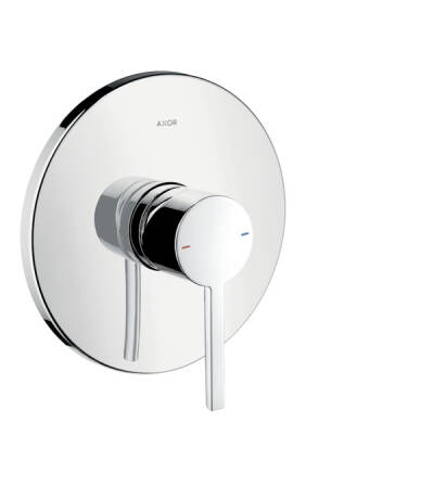 Single lever shower mixer for concealed installation with flat lever handle