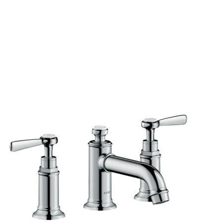 3-hole basin mixer 30 with pop-up waste set and lever handles