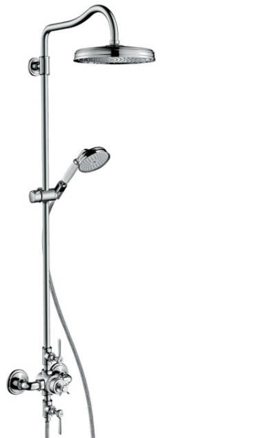 Showerpipe with thermostat and overhead shower 240 1jet