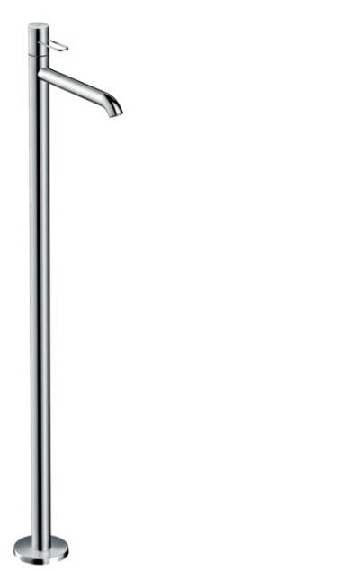 Single lever basin mixer floor-standing with loop handle without waste set