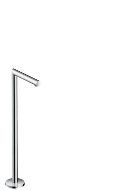 Bath spout straight floor-standing