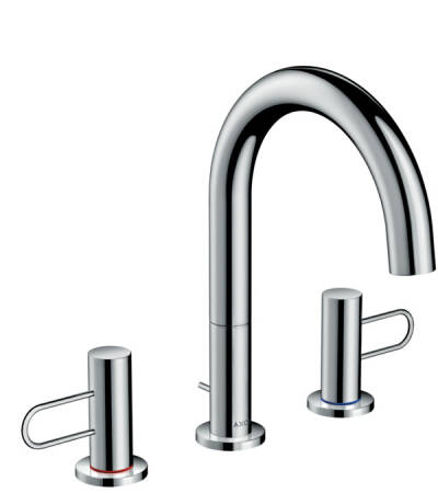 3-hole basin mixer 160 with loop handles and pop-up waste set