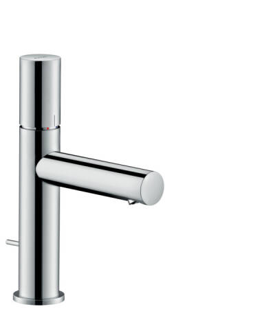 Single lever basin mixer 110 zero handle with pop-up waste set