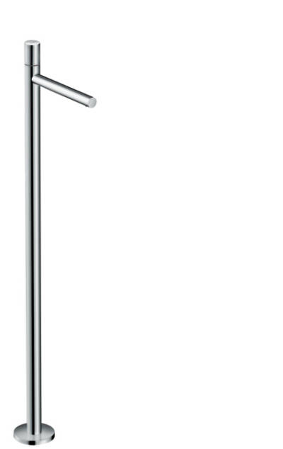 Single lever basin mixer floor-standing with zero handle without waste set