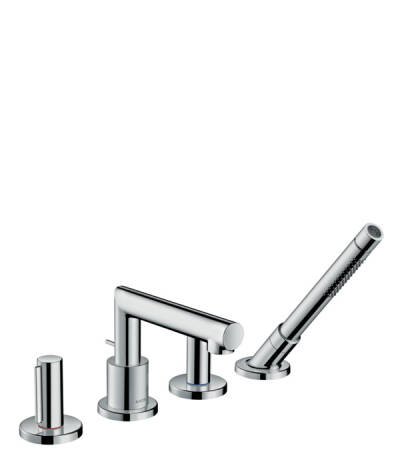 4-hole rim mounted bath mixer zero handle