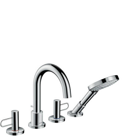 4-hole rim mounted bath mixer loop handle
