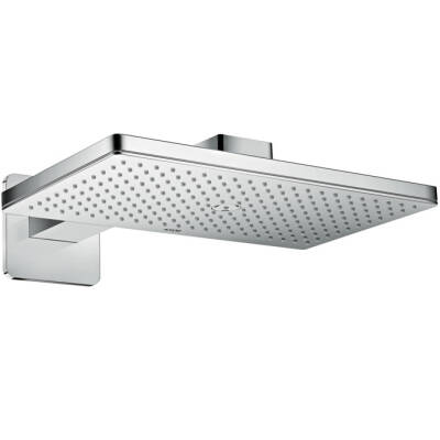 Overhead shower 460/300 1jet with shower arm and softcube escutcheons