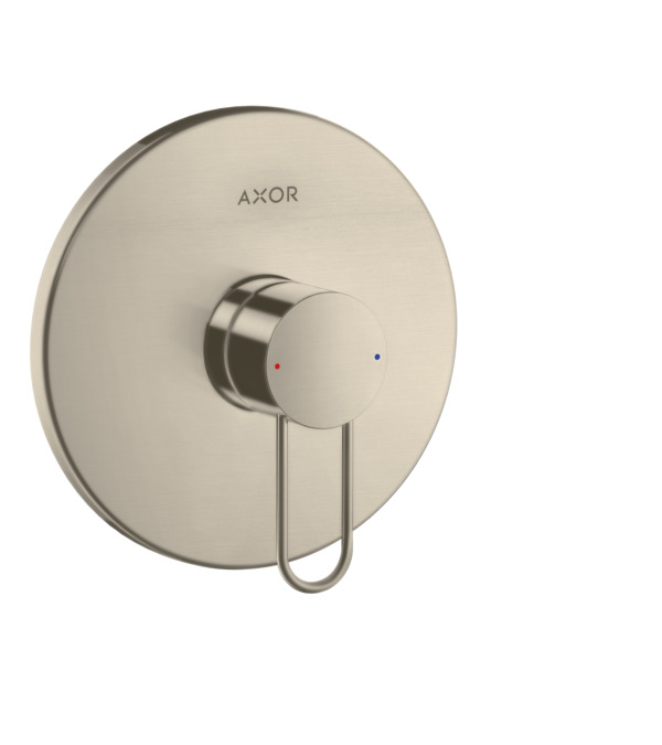 axor uno brausearmaturen 1 verbraucher brushed nickel 38626820. Black Bedroom Furniture Sets. Home Design Ideas