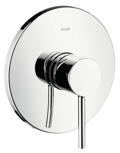 Single lever shower mixer for concealed installation with round lever handle