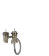 Basic set for 2-hole rim mounted thermostatic bath mixer