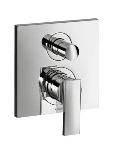 Mezclador monomando de  bañera empotrado con combinación de seguridad según EN1717