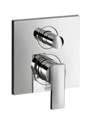 Single lever bath mixer for concealed installation with lever handle and integrated security combination according to EN1717
