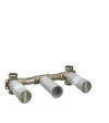 Basic set for 3-hole basin mixer for concealed installation wall-mounted