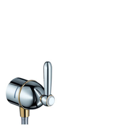 Fixfit stop wall outlet with shut-off valve and lever handle