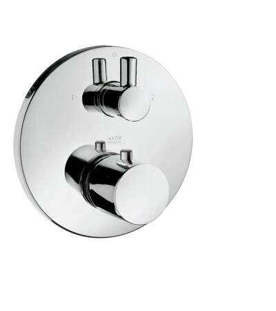 Thermostat for concealed installation with shut-off/ diverter valve